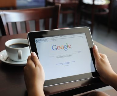 google on an ipad