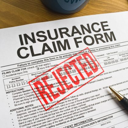 rejected insurance claim
