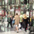 overlay of digital data over street scene