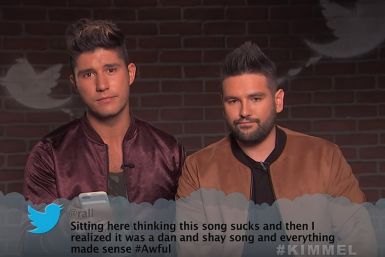 Mean tweets about Dan and Shay