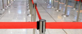 Stanchions, Crowd Control Barriers at airport