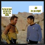 Captain Kirk and Mr. Spock meme about United beating up its customers