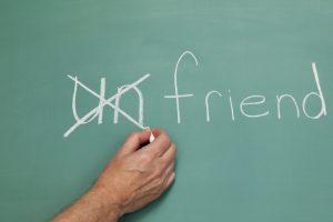 unfriend chalkboard