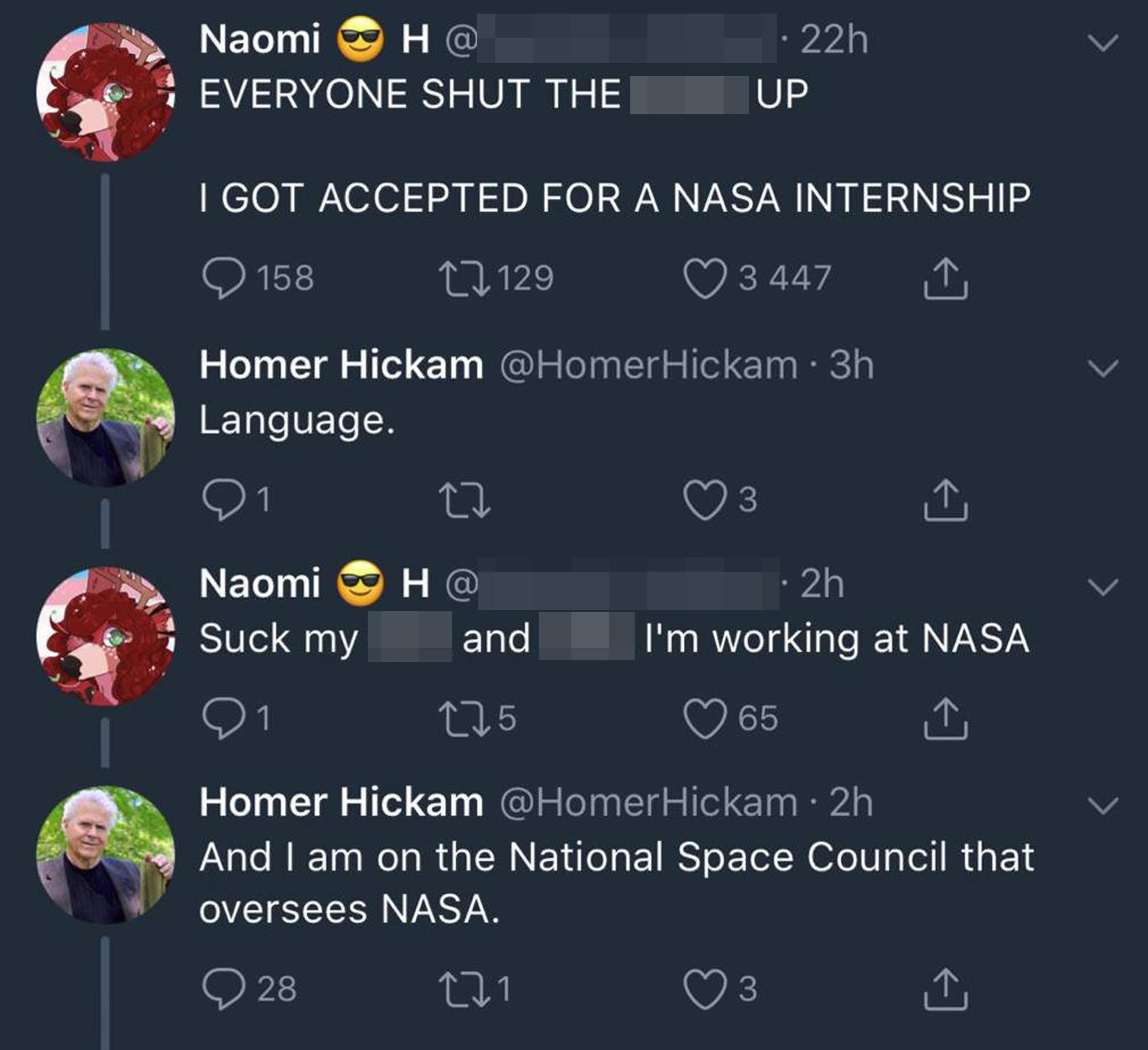 NASA internship tweet thread