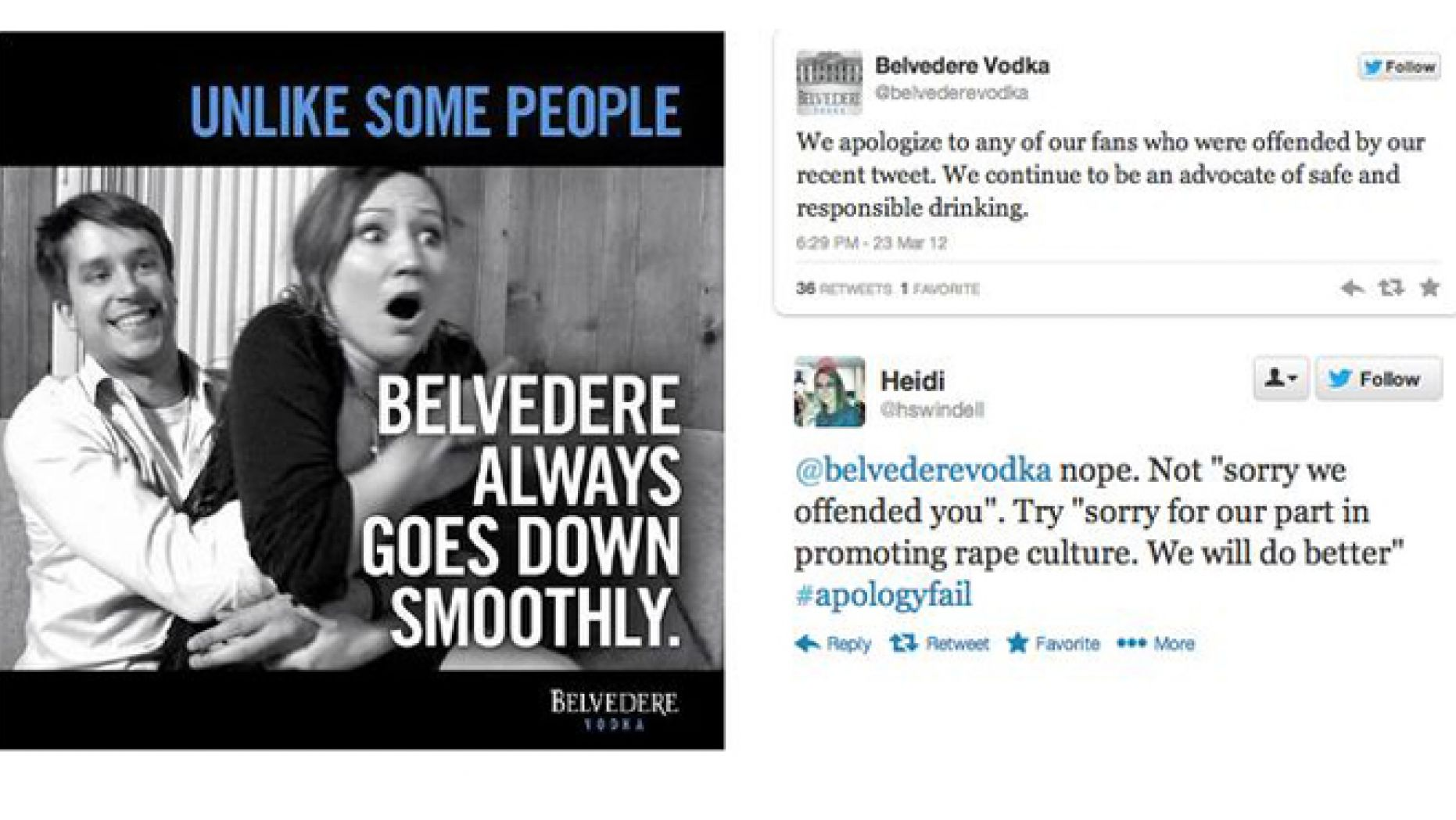 Belvedere social media fail