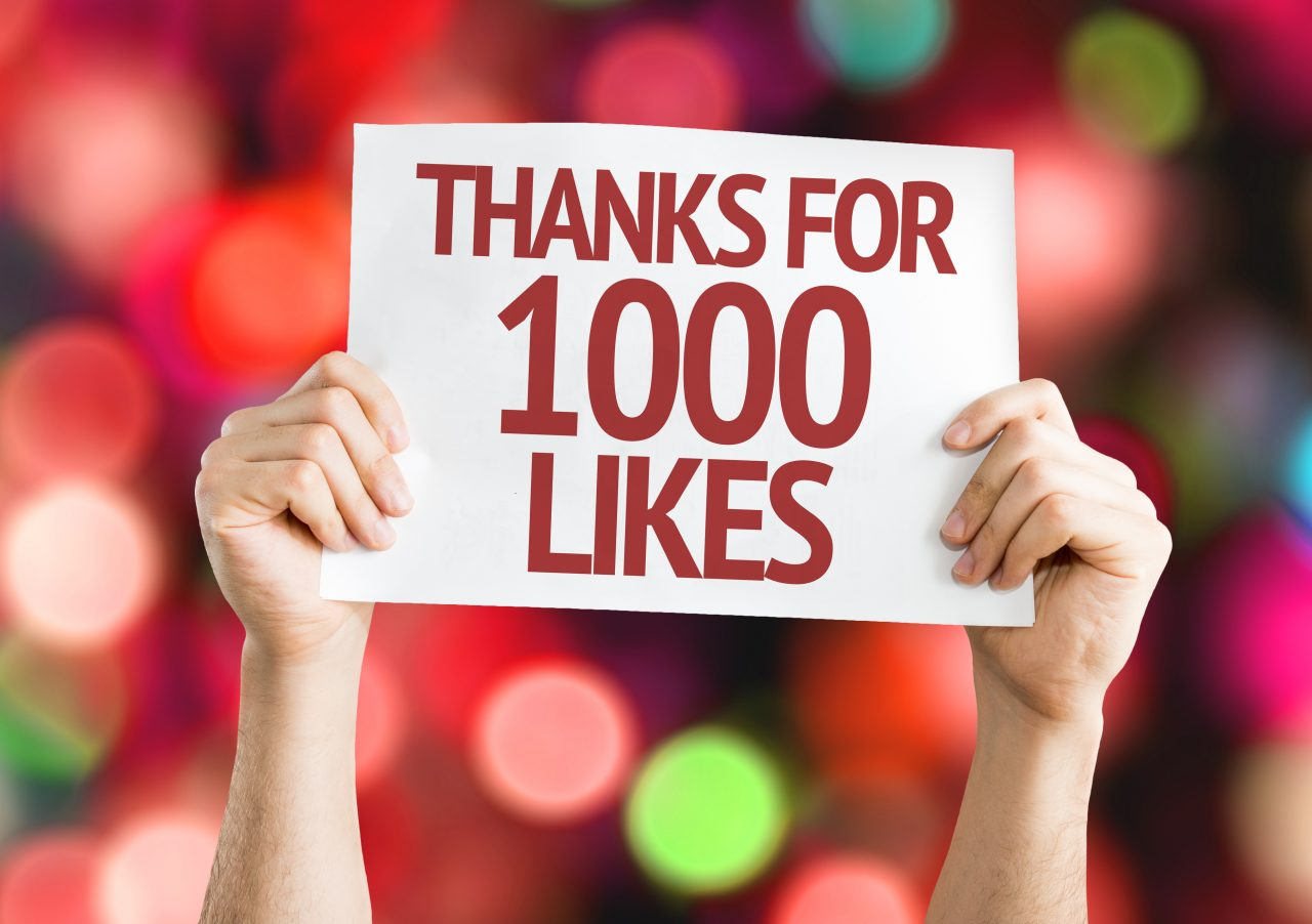 Thanks for 1000 Likes sign