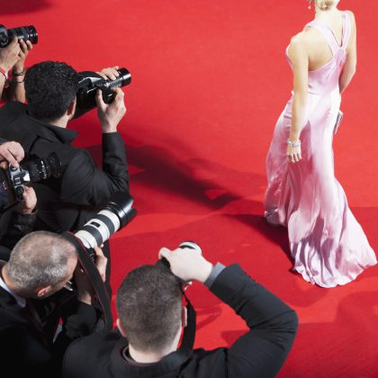 celebrity being photographed