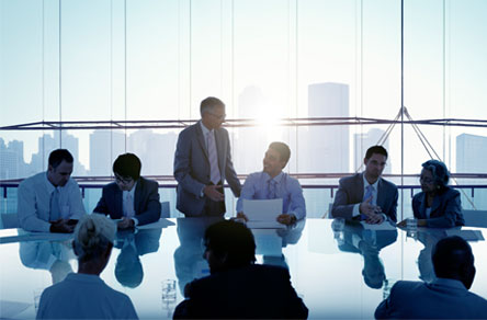 executives in a boardroom