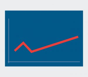 line graph progress icon