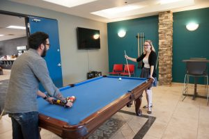 tempe office playing pool