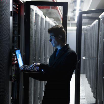 computer engineer in data center