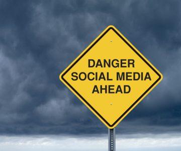 social media danger sign
