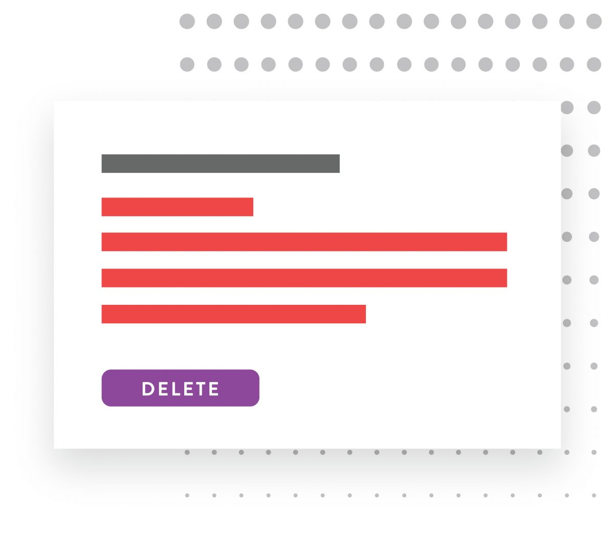 delete personal information