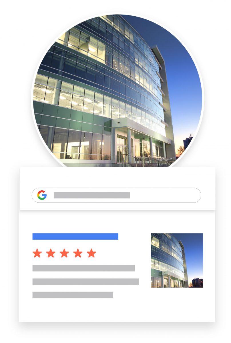 large company online presence