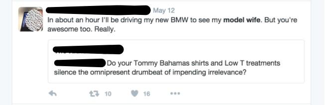 Screenshot of Twitter fight