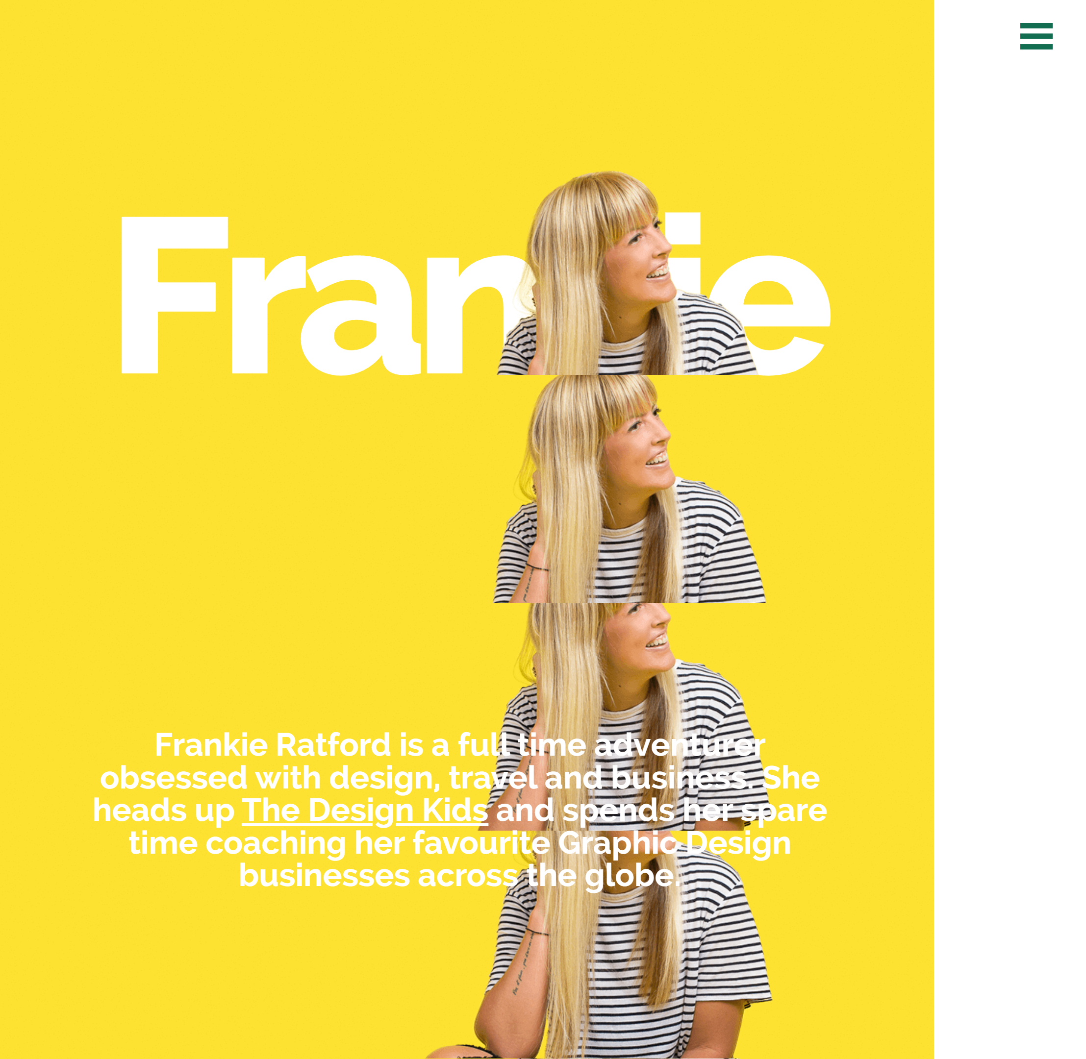 Screenshot of Frankie Ratford's website