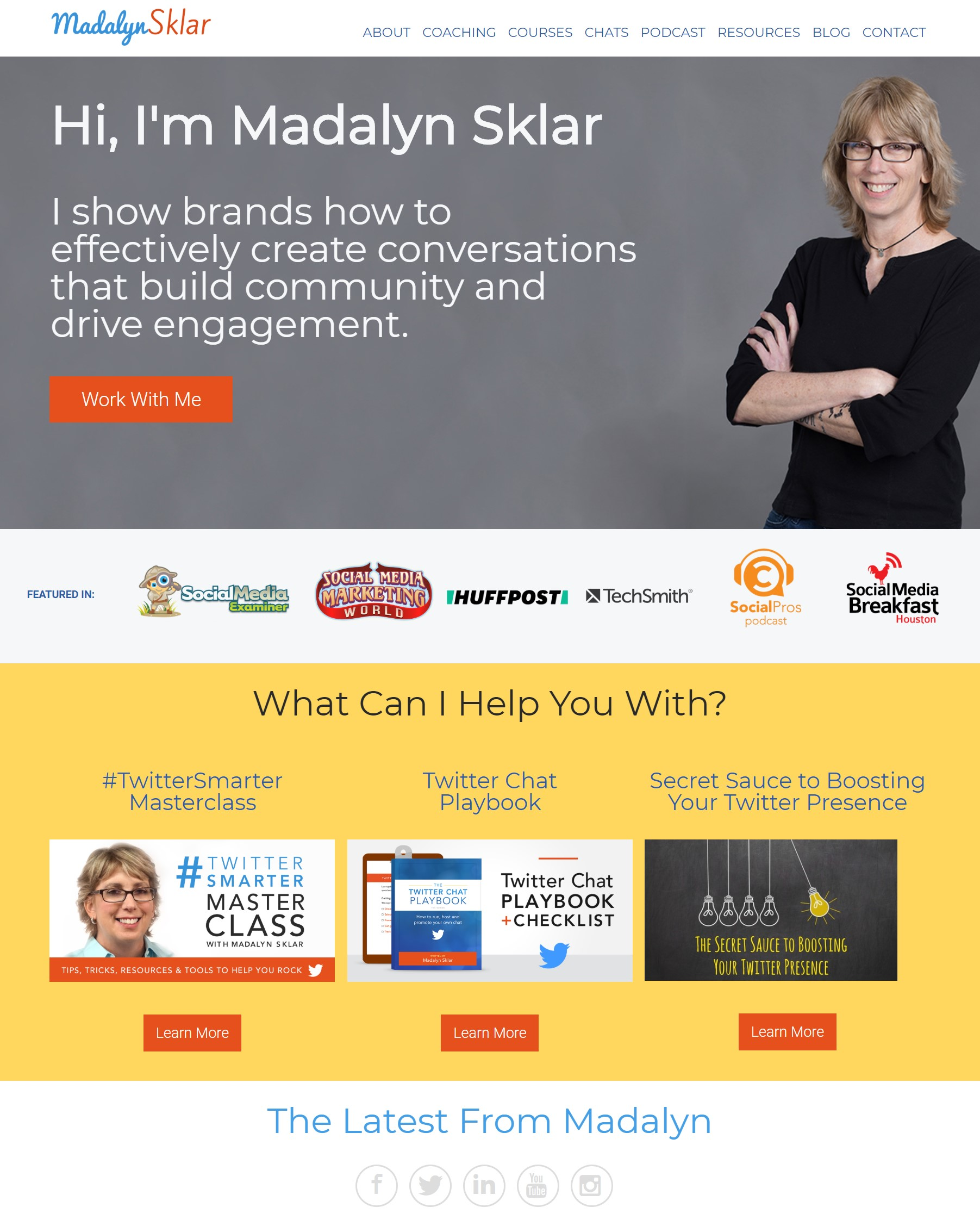 Screenshot of Madalyn Sklar's website