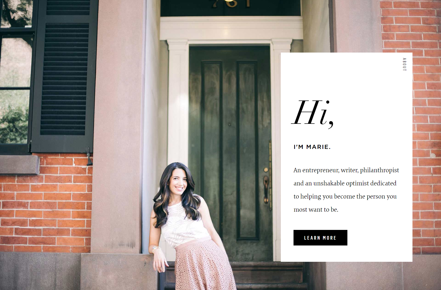 Screenshot of Marie Forleo homepage