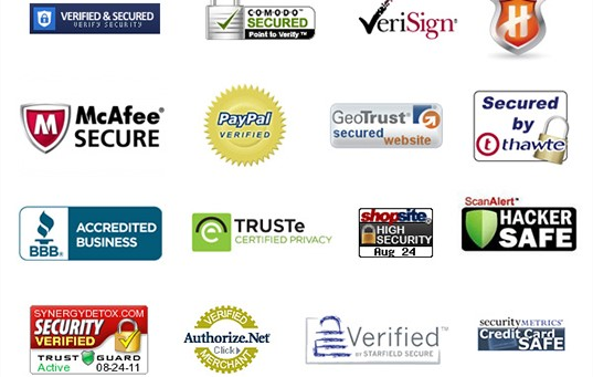 16 logos of trust badges