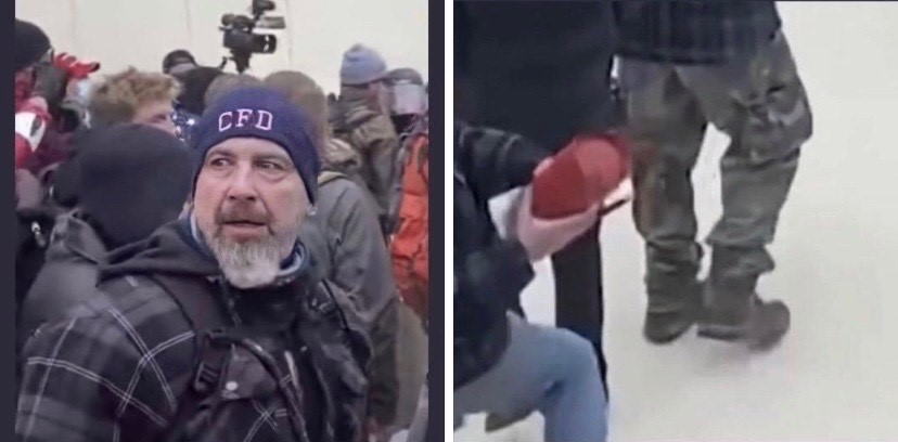 Older man with CFD hat at Capital riot